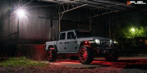 Jeep Gladiator with Fuel 1-Piece Wheels Reaction - D754