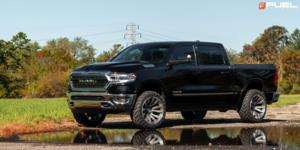 Dodge Ram 1500 with Fuel 1-Piece Wheels Blitz - D693