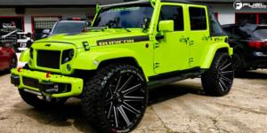 Jeep Wrangler with Fuel 1-Piece Wheels Contra - D615