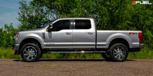Ford F-250 Super Duty with Fuel 1-Piece Wheels Lockdown - D746