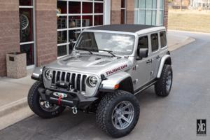 Jeep Wrangler with Fuel 1-Piece Wheels Rogue Platinum - D710