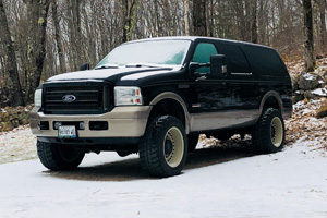 Ford Excursion with Black Rhino Armory