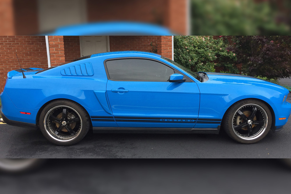 Ford Mustang with TSW Jarama