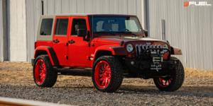Jeep Wrangler with Fuel 1-Piece Wheels Saber - D745