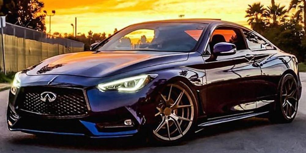 Infiniti Q60 Verde Wheels V99 Axis