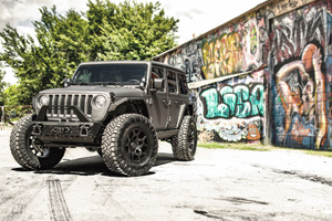 Jeep Wrangler with Black Rhino Overland