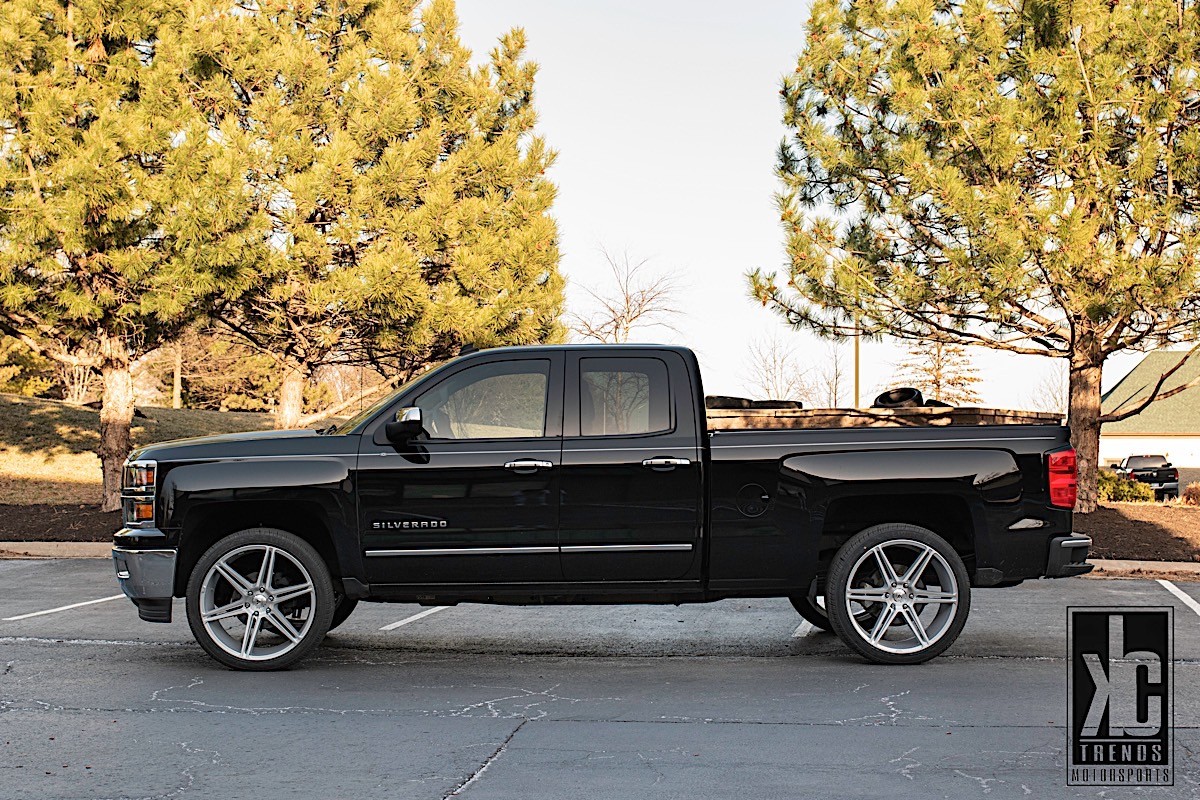 Chevrolet Silverado 1500 with Asanti Black Label ABL-25 Alpha 6
