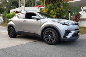 Toyota C-HR with Black Rhino Warlord