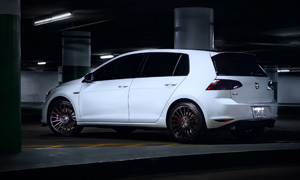 Volkswagen GTI with TSW Luco