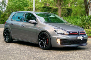 Volkswagen GTI with TSW Tabac