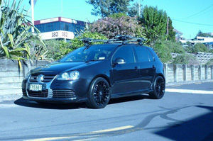 Volkswagen Golf with TSW Mallory 5