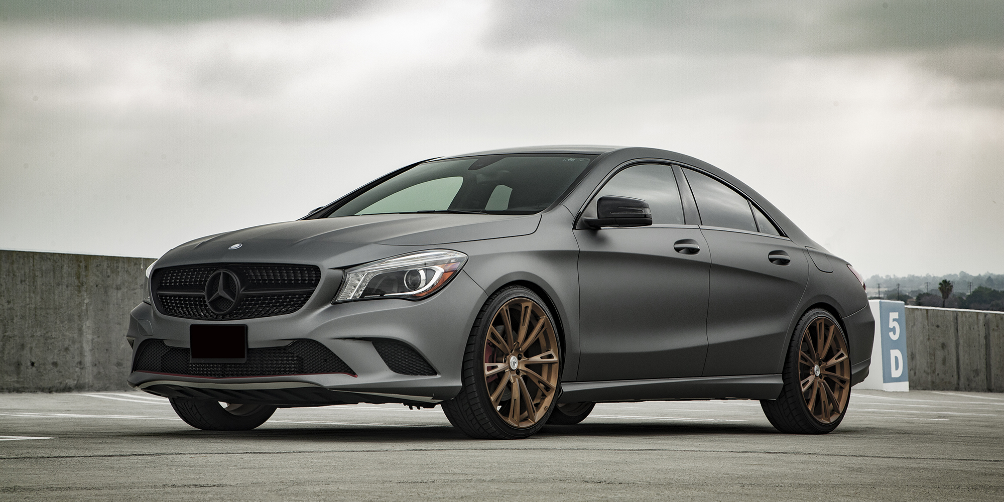 Mercedes-Benz CLA250 with Asanti Forged Wheels Monoblock Series Monoblock 881