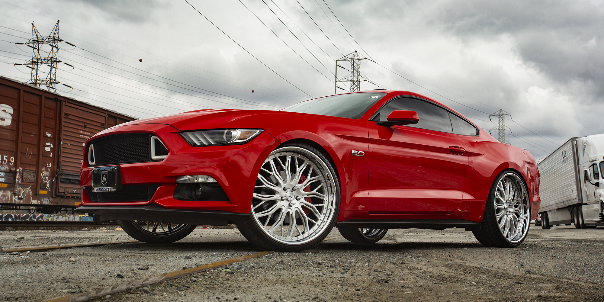 Ford Mustang with Asanti Forged Wheels A/F Series AF866