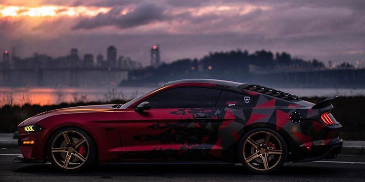 Ford Mustang with Verde Wheels V09 Spry