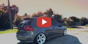 Volkswagen GTI on 18in SP-8 Concave Wheels