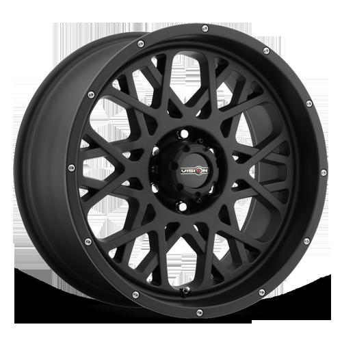 20X9 Vision Off Road 412 Rocker 5x127 5x5 Satin Black Wheel Rim QTY 1