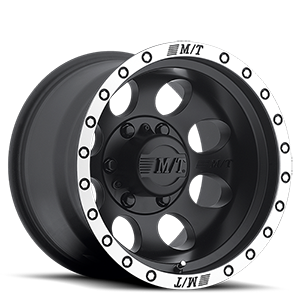 Classic Baja Lock™ - 15x10 Matte Black with Machined Simulated Bead Lock 6 lug