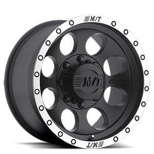 Classic Baja Lock™ - 17x9 Matte Black with Machined Simulated Bead Lock 8 lug