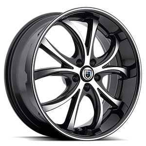 ABL-8 ELEKTRA Matte Black Machined w/ Black Lip 5 lug