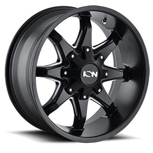 181 Satin Black Milled Spokes 8 lug