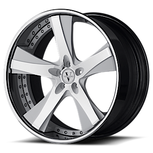 VTK concave Chrome and White 5 lug