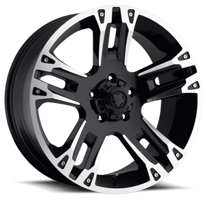 234-235 Maverick 5 Gloss Black with Diamond Cut Accents