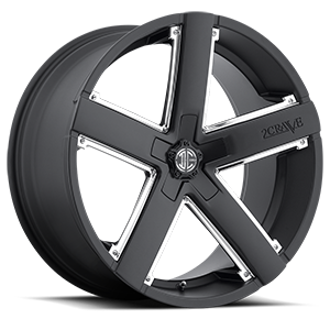 No35 Black with Chrome Inserts 5 lug
