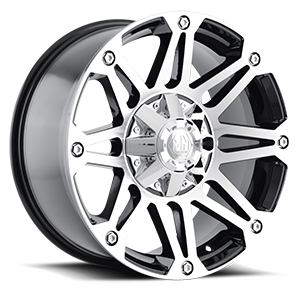 8010 Riot Black Machined 5 lug