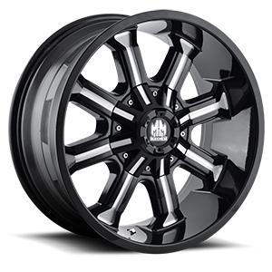 8102 Beast Black Milled Spokes 8 lug