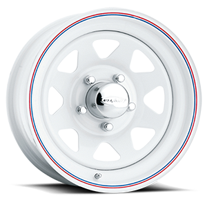 8-Spoke (Series 70) White 5 lug