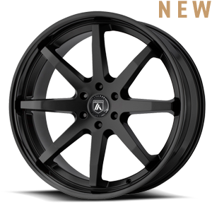 Asanti Wheels - ABL-32 Kaiser Satin Black w/ Gloss Black Lip 6 lug