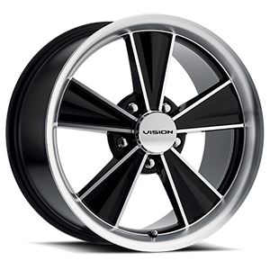 Dazzler Gloss Black Mirror Machined Face 5 lug