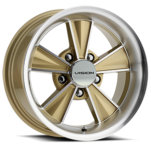 Dazzler Gold Mirror Machined Face 5 lug