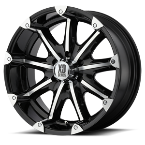 XD779 Badlands Gloss Black Machined 6 lug