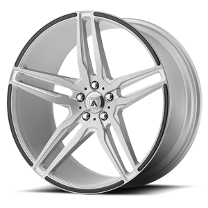 ABL-12 Orion Brushed Silver w/ Gloss Black Inserts 5 lug