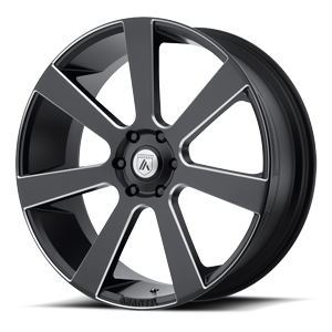 ABL-15 Apollo Satin Black Milled 6 lug