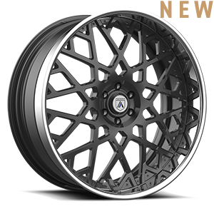 Asanti Wheels - AF890 Gunmetal w/ Chrome Lip 6 lug