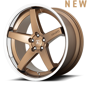 Asanti Wheels - ABL-31 Bronze with Chrome Lip 5 lug