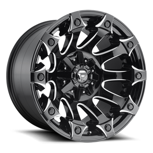 Fuel 1-Piece Wheels Battle Axe - D578 5 Gloss Black & Milled
