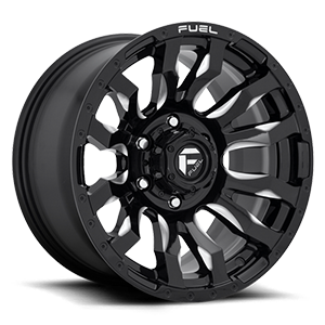 Fuel 1-Piece Wheels Blitz - D673 6 Gloss Black & Milled