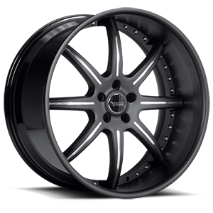 BS3 Black with Chrome Inserts 5 lug