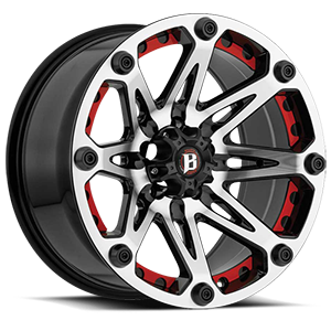 Ballistic Off Road 814 Jester 5 Gloss Black Machined