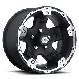 Series 900B Viper Black Machined 5 lug