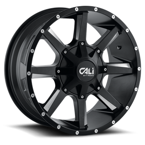 Busted Satin Black Milled Spokes 8 lug