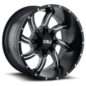 Twisted Satin Black Milled Spokes 8 lug