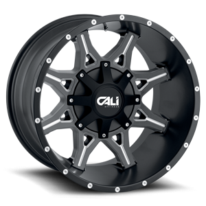 Obnoxious Satin Black Milled Spokes 5 lug