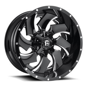 Fuel 2-Piece Wheels Cleaver - D239 5 Gloss Black & Milled