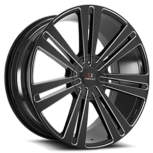 CLV-16 Gloss Black Milled 5 lug