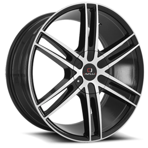 CLV-20 Gloss Black Machined 5 lug