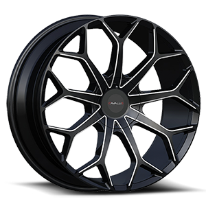 CLV-22 Gloss Black Milled 5 lug